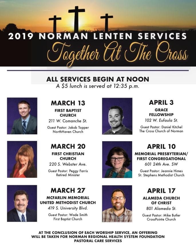 2019 Lent Service 8.5x11 Flyer